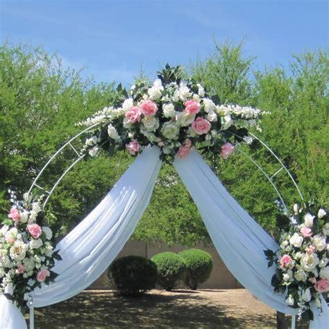 arch wedding 7 5 ft white metal arch wedding garden bridal party