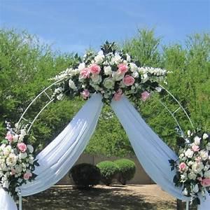7 5 Ft White Metal Tall Arch Wedding Garden Bridal Party