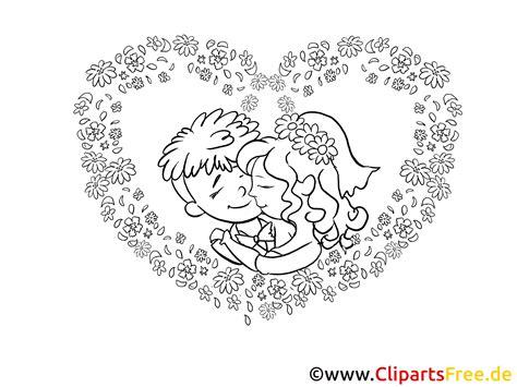 brautpaar zeichnung bild clipart illustration