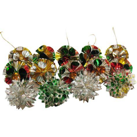 vintage 14 cellophane plastic christmas tree ornaments