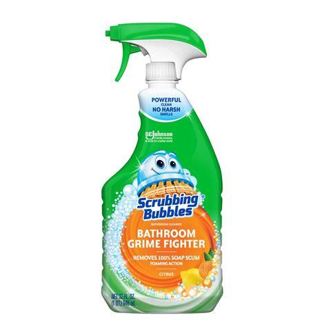 scrubbing bubbles  fl oz citrus bathroom grime fighter