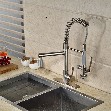 kitchen sink tap cover minnehaha brushed nickel finish dual spout kitchen sink 8550