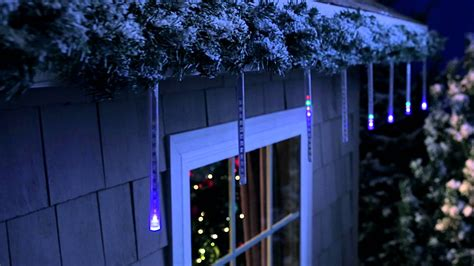philips  ct cascading icicle light set youtube