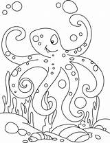 Coloring Octopus Pages Armstrong Louis Print Cute Drawing Printable Baby Muscular Outline Sheet Preschool sketch template