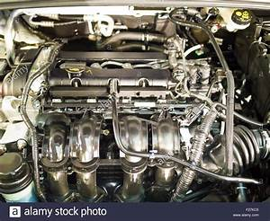 Part Of Engine Structure Inside A Car Stock Photo