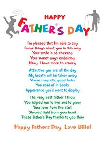 Funny Father's Day Card Poems