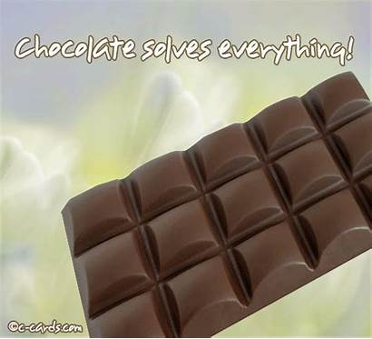 Chocolate Solves Everything Encouragement Greeting