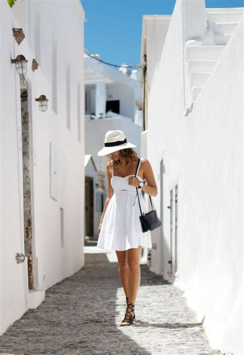 53 best images about Santorini on Pinterest | Summer street fashion Barefoot blonde and Greece