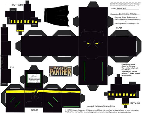 Marvel Black Panther Cubee By Theflyingdachshund On Deviantart