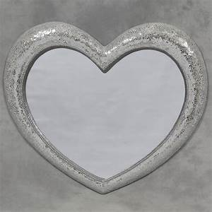 Large Mosaic Glass Heart Mirror Large Mirror Sparkly