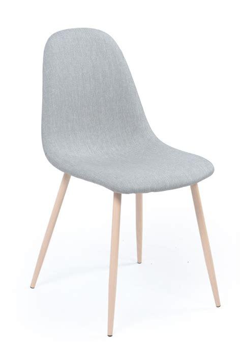 chaise en métal excitant int 233 rieur tendance avec chaise pied m 195 tal bois assise tissu gris loken lestendances