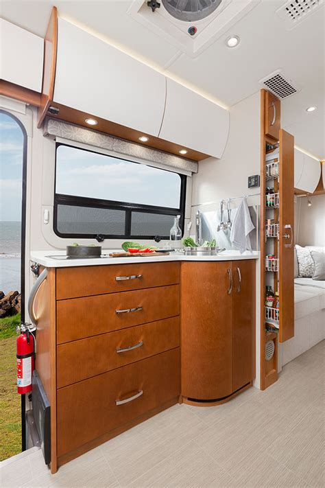 cuisine rv motorhome kitchen storage solutions with excellent photo