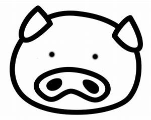 Pig Face Coloring Page - Coloring Home