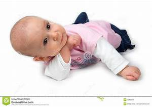 Cute Baby In Thinking Pose Royalty Free Stock Photos ...