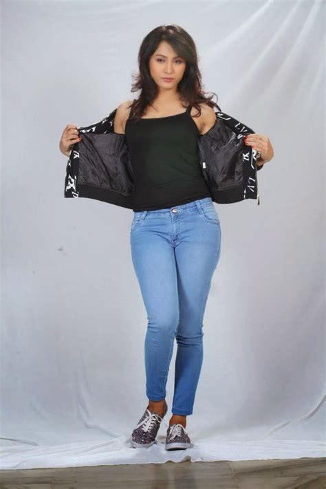 telugu actress hot jeans telugu actress smithika latest spicy photo stills in tight