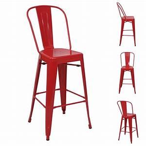 Barstuhl Mit Lehne : 4x barhocker hwc a73 barstuhl tresenhocker mit lehne metall industriedesign rot ~ Indierocktalk.com Haus und Dekorationen