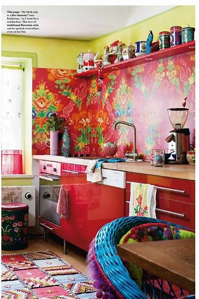 Kitchen Bohemian Gypsy Decor Hippie Colorful Funky