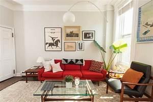 Rotes Sofa Welche Wandfarbe : wohnzimmer ideen rote couch ~ Bigdaddyawards.com Haus und Dekorationen