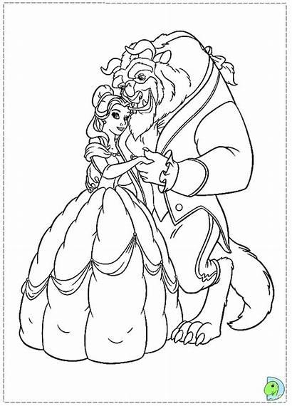 Beast Coloring Disney Belle Rose Bela Desenhos
