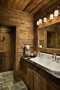le meuble massif est il convenable pour l39interieur With porte d entrée pvc avec meuble salle de bain rustique chic
