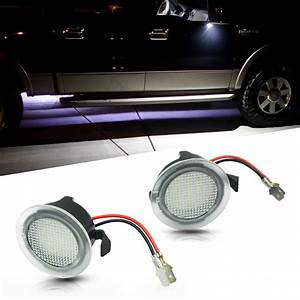 Xenon, White, Led, Puddle, Lights, For, Ford, Taurus, Edge, Flex, F150, Side, Mirror, Lights