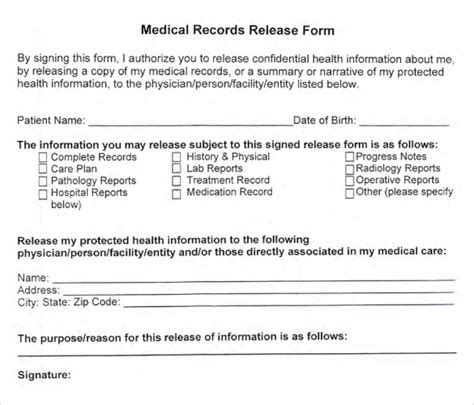 Generic Hipaa Medical Release Form