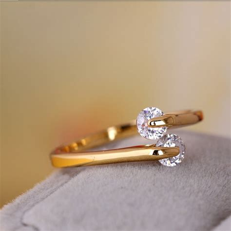 aliexpress com buy wedding band rings for women pure gold color aaa cz stone jewellery