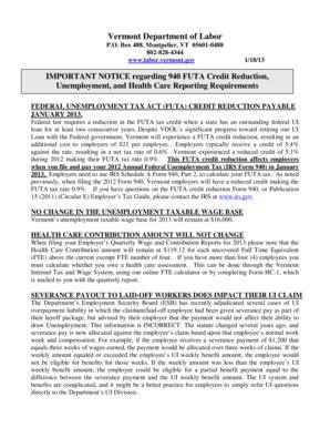 2013 form 940 schedule a fillable online labor vermont 2014 form 940 schedule a