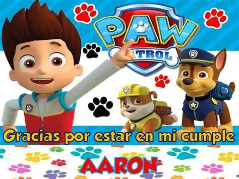 Tarjeta Invitación Cumple Patrulla Canina Lego Paw $ 10