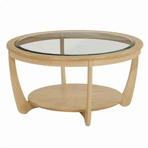oak coffee table with glass top nathan shades in oak glass top round coffee table