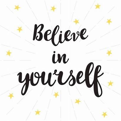 Believe Yourself Poster Positive Inspirational Thinking Quote
