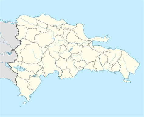 Ģeogrāfiskā karte - Dominikāna - 1,400 x 1,139 Pikselis ...