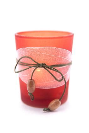 Glass Candle Holders Wrapped Sandwich Paper Raffia Ribbons by Votive Candles Lovetoknow