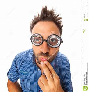 Wow Expression With Eye Glasses Royalty Free Stock Photos ...