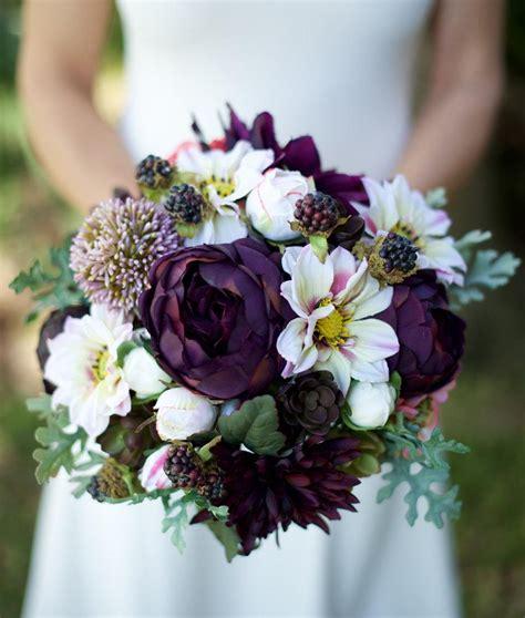 amazing lilac plum wedding silk succulent peonies