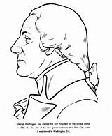 Washington George Coloring Pages Presidents President Facts Sheet 1789 Sheets Easy Printables Simple States United Template Printable Thomas Kindergarten Crafts sketch template