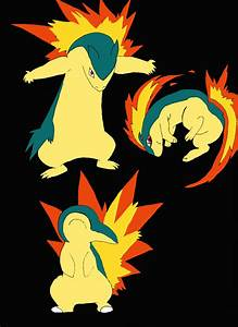 Cyndaquil Evolution by RubySky21 on DeviantArt