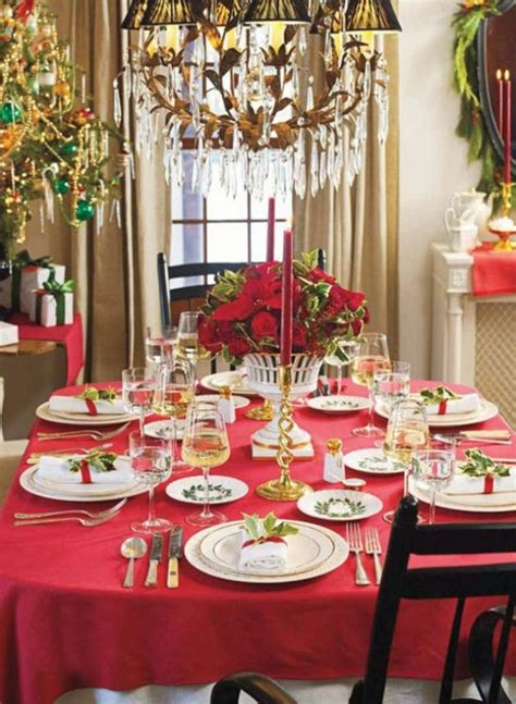 christmas dinner table decoration ideas dinner
