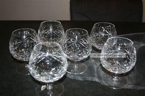 cognacglaeser bleikristall schleuderstern cognacschwenker