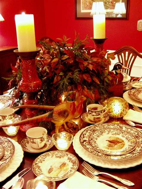 thanksgiving tablescape table setting  spode woodland