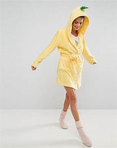 asos pineapple robe in yellow lyst With robe ananas 3 suisses