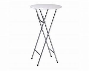 Table Ronde Haute : table blanche pliante pliable ronde haute bar ~ Teatrodelosmanantiales.com Idées de Décoration
