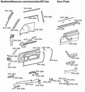 Mercedes Benz 107 Sl Slc Roadster Parts Diagrams Part Numbers