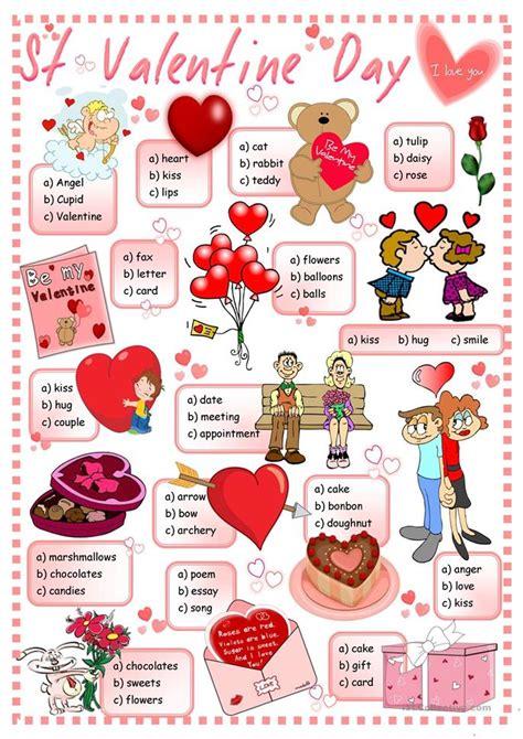 st valentines day quiz worksheet  esl printable