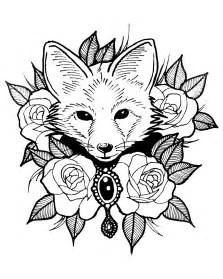 Foxes Animal Coloring Pages for Adults