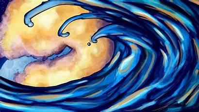 Ocean Waves Artsy Wallpapers Desktop Drawing Pc