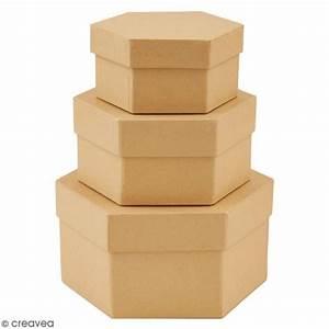 Boite En Carton À Décorer : bo tes gigognes en carton hexagones 15 5 cm 3 pcs boite en carton d corer creavea ~ Melissatoandfro.com Idées de Décoration
