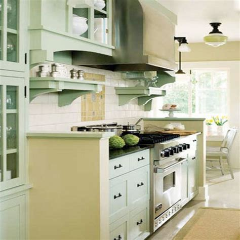 Green Kitchen White Cabinets by Mint Green Decorating Ideas Viendoraglass