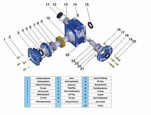 Rv Nmrv 030 040 050 063 075 Worm Gear Box Speed Reducer