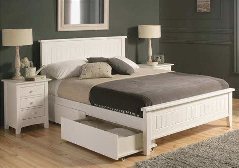White Queen Platform Bed With Storage New White Queen Bed